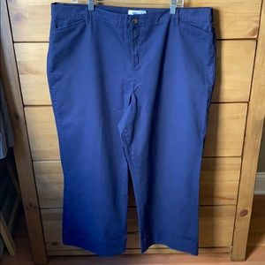 Old Navy Blue Wide Leg Cuffed Pant / Size 18 Tall